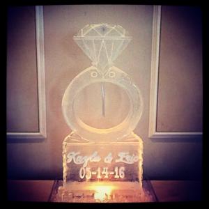 Diamond Ring Ice Sculpture