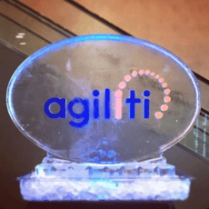 Oval Ice Sculpture with Logo
