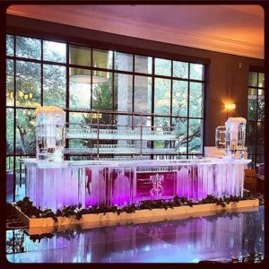 Custom Ice Bar with built-in Kegs by Full Spectrum Ice Sculptures