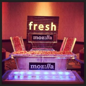 Mozilla Seafood tray and Ice Bar by Full Spectrum Ice Sculptures