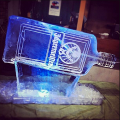 Jaggermeister bottle Ice Luge by Full Spectrum Ice Sculptures
